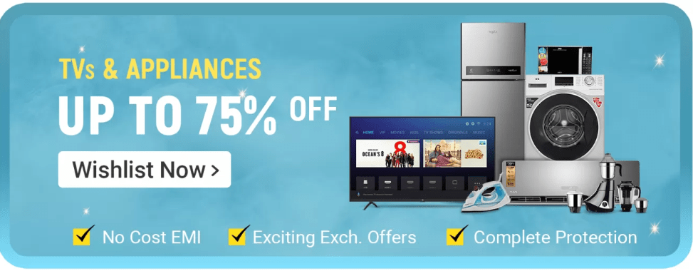 Flipkart Big Billions Day TV Offers