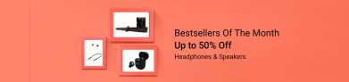 Flipkart Head Phones & Speakers Offers, Up To 50% OFF