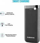 Ambrane 20000 mAh Power Bank (PP-20)  (Black, Lithium Polymer)