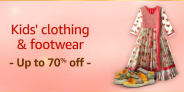 Amazon Kids Clothing Offers and Footwear, Up To 70% OFF