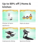 Up to 80% off   Home & kitchen, Great Indian Festivals Deals