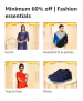 Minimum 60% off | Fashion essentials, Great Indian Festivals