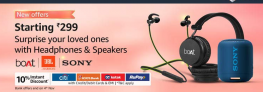 Great Indian Festivals 2020 – Head Phones, Speakers, Sound Bars Offers, Up To 70% OFF