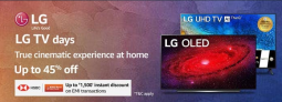 LG TV Days, Up To 45% OFF
