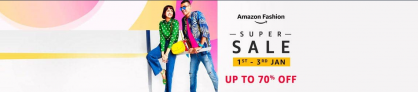 Amazon Fashion – Year End Sale 2021, Up To 70% OFF, 1st – 3rd January