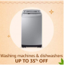Washing machines & Dishwashers, Up To 35% OFF